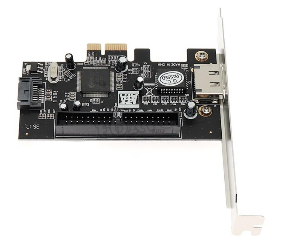 Контролер PCI-E to SATA+ESATA+IDE