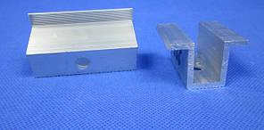 Притиск двосторонній довжина 60 мм для кріплення сонячних панелей