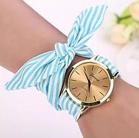Стильные женские наручные часы на ленте «Style time» (голубой)