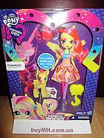 Кукла My Little Pony Equestria Girls Fluttershy Doll and Pony Set Флаттершай и пони