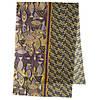 Палантин шерстяной 10535-10, павлопосадский шарф-палантин шерстяной (разреженная шерсть) с осыпкой