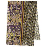Палантин шерстяной 10535-10, павлопосадский шарф-палантин шерстяной (разреженная шерсть) с осыпкой, фото 1