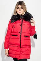 """Куртка женская """"Трансформер"""" с контрастным мехом 315V001-1"""