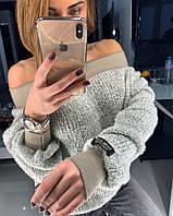 """NEW 2018!Модный и оригинальный, женский свитер """"BARBI"""" (шерстяное букле и лопковый довяз)  РАЗНЫЕ ЦВЕТА"""