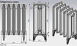 Радиатор чугунный дизайнерский VIADRUS Bohemia 450/225, фото 2