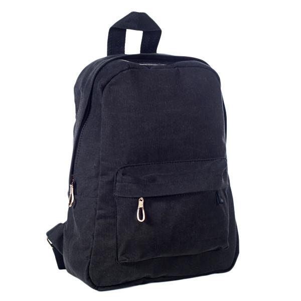 Городской женский стильный рюкзак Mayers, холст (темно коричневый), фото 4