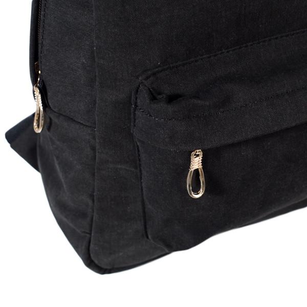 Городской женский стильный рюкзак Mayers, холст (темно коричневый), фото 5