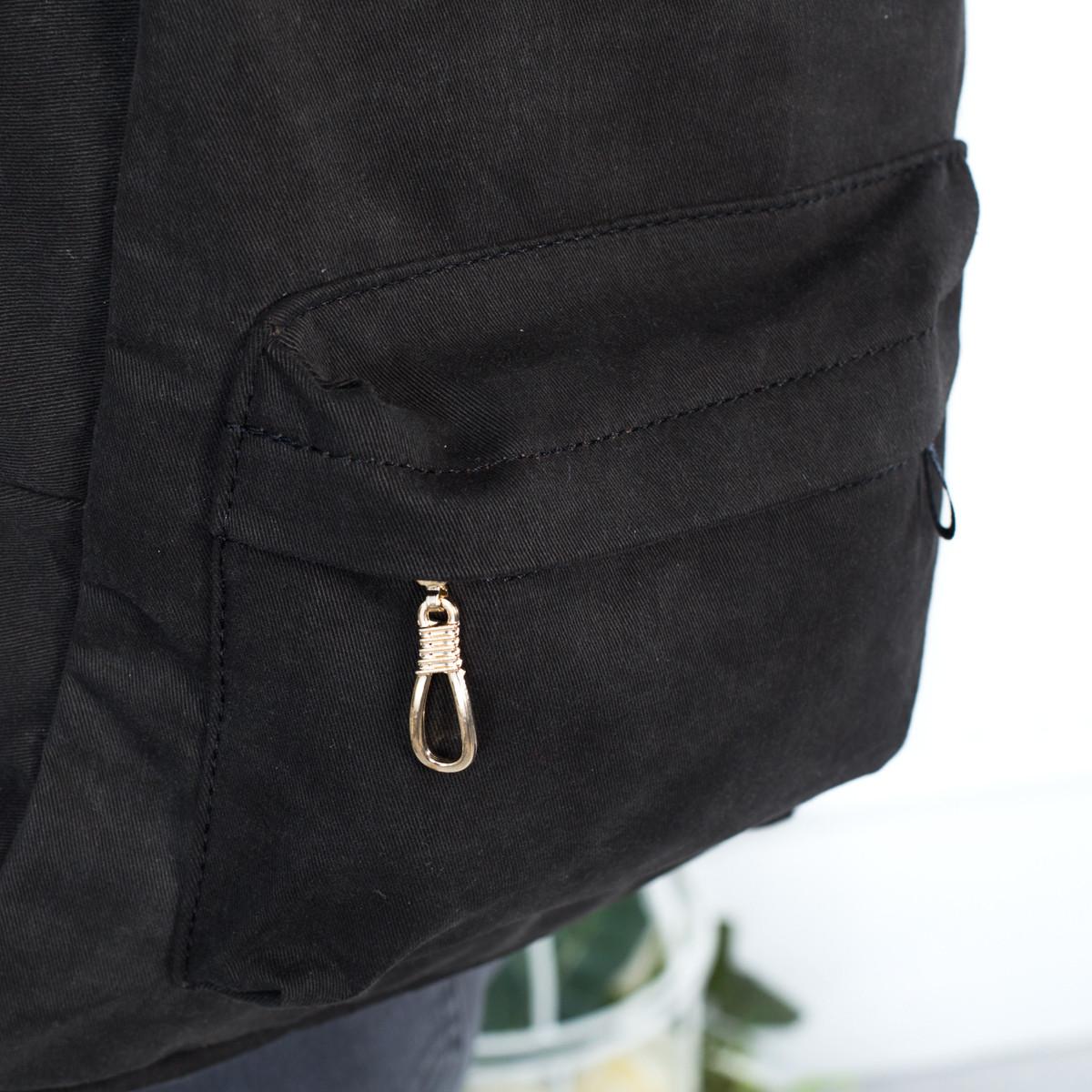 Городской женский стильный рюкзак Mayers, холст (темно коричневый), фото 6