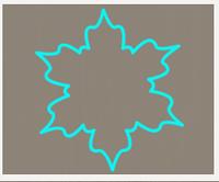 Вырубка кондитерская для пряника мастики марципана Снежинка 3
