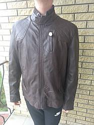Куртка мужская большого размера из экокожи OS