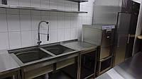 Мойка двойная для столовой 1300/700/850 мм, фото 1