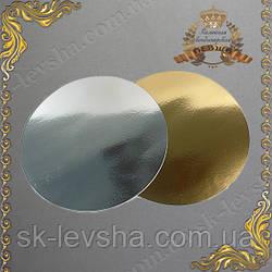 Подложка золото-серебро d=40см