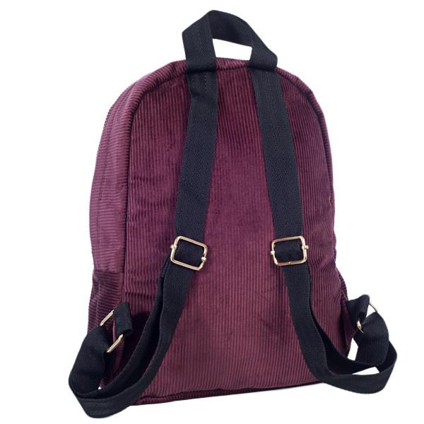 Городской женский вельветовый рюкзак Mayers, бордовый, фото 2