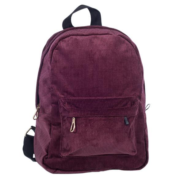 Городской женский вельветовый рюкзак Mayers, бордовый, фото 3