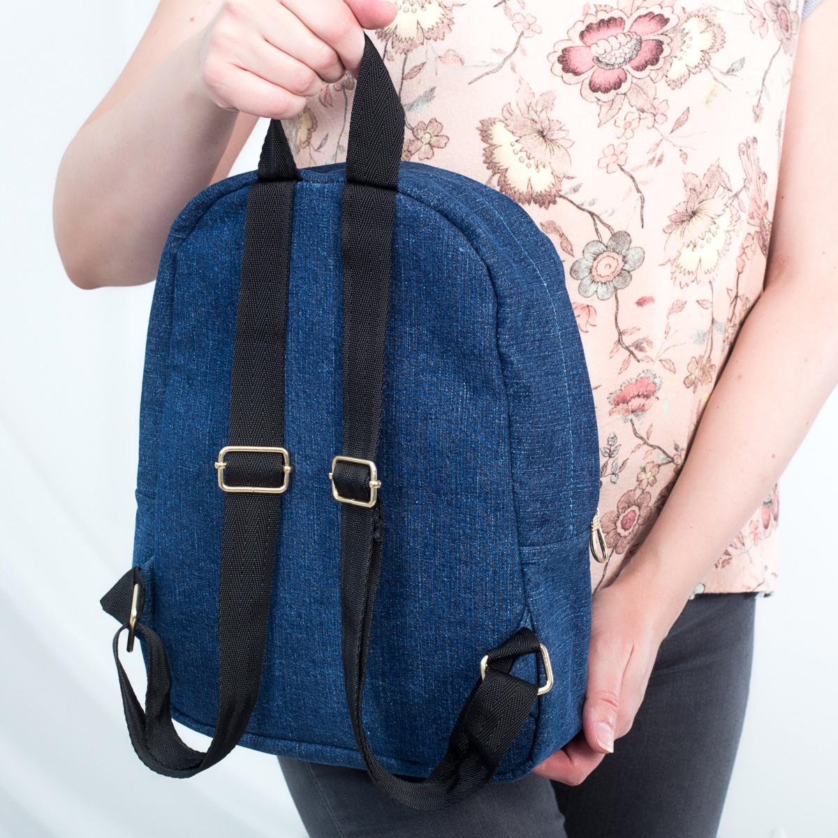 Стильный женский джинсовый рюкзак Mayers, синий, фото 4