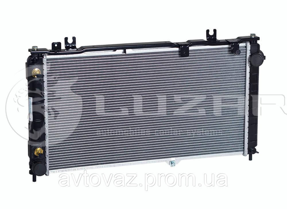 Радиатор охлаждения ВАЗ 2190 Гранта автомат (алюм-паяный) (LRc 01192b) ЛУЗАР