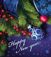 """Пакет с петлевой ручкой """"Новый год"""" 40х43"""