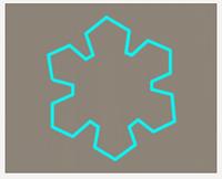 Вырубка кондитерская для пряника мастики марципана Снежинка 0020  8см