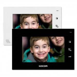 Видеодомофон Kocom KCV-A374 SD mono white/black