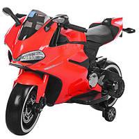 Детский мотоцикл М 3467 EL-3: 12V, 70W, EVA, 3-6 км/ч - Красный - купить оптом, фото 1