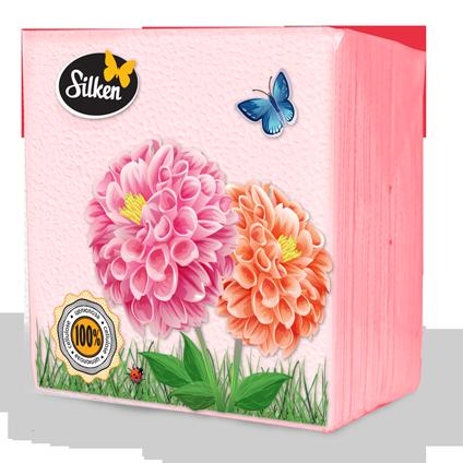 Серветки Plushe 1-шарові паперові 24 Рожеві 100шт (шт.)