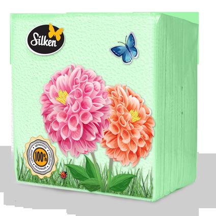 Серветки Plushe 1-шарові паперові 24 Салатові 100шт (шт.)