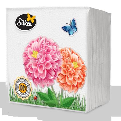 Серветки Plushe 1-шарові паперові 24 Білі 100шт (шт.)