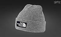 Шапка The North Face серого цвета  (люкс копия)