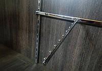 Кронштейн флейта похила 400мм на перемичку європейського торгового обладнання