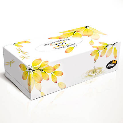 "Silken 2-сл. у коробці ""Natural"" жовта 150шт , фото 2"