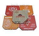 Коробка для пиццы, 40 см бурая, 400*400*40, мм, фото 3