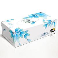 "Silken 2-сл. у коробці ""Natural"" блакитна 150шт"