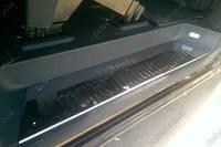 Накладки на пороги салона Volkswagen T5/ T6 (фольксваген т5/ Т6), 3 шт нерж.