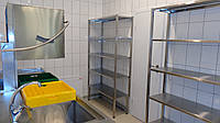 Стеллаж производственный из нержавеющей стали на 3 полки 900/500/1800 мм, фото 1