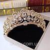 Діадема корона ЕЛІЗАБЕТ,набір діадема і сережки весільна біжутерія, фото 3