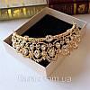 Діадема корона ЕЛІЗАБЕТ,набір діадема і сережки весільна біжутерія, фото 4