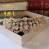 Діадема корона ЕЛІЗАБЕТ,набір діадема і сережки весільна біжутерія, фото 5