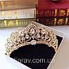 Діадема корона ЕЛІЗАБЕТ,набір діадема і сережки весільна біжутерія, фото 7