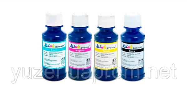 Комплект чернил INKSYSTEM для фотопечати на Epson 100 мл (4 цвета)