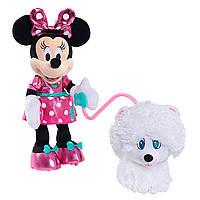 Minnie Mouse Минни Маус с щенком Minnie Walk/ Play Puppy Feature Plush, фото 1