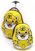 """Набір дитячий валізу на колесах + рюкзак """"Josef Otten"""" Тигри 520353"""