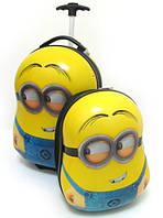 """Набор детский чемодан на колесах + рюкзак """"Миньоны"""" 520354"""