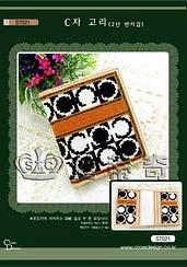 Набор для вышивания крестиком кошелек Классика