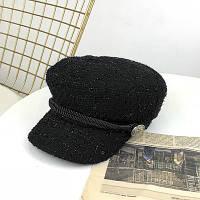 Женский картуз, кепи, фуражка из драпа черный