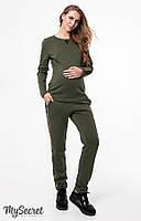 Модный теплый костюм для беременных и кормящих RYAN, хаки*, фото 1