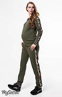 Модный теплый костюм для беременных и кормящих RYAN, хаки