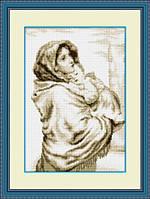 "010L Набор для рисования камнями (холст) ""Мадонна с младенцем"" LasKo"