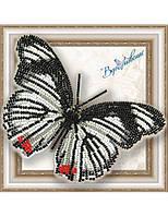 """011-BGP Набор для вышивки бисером на прозрачной основе """"Бабочка Hypolimnas usambara"""""""