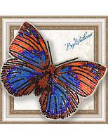 """015-BGP Набор для вышивки бисером на прозрачной основе """"Бабочка Агриас Нарцисс"""""""
