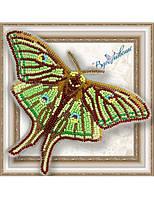 """016-BGP Набор для вышивки бисером на прозрачной основе """"Бабочка Грельсия Изабеллы"""""""